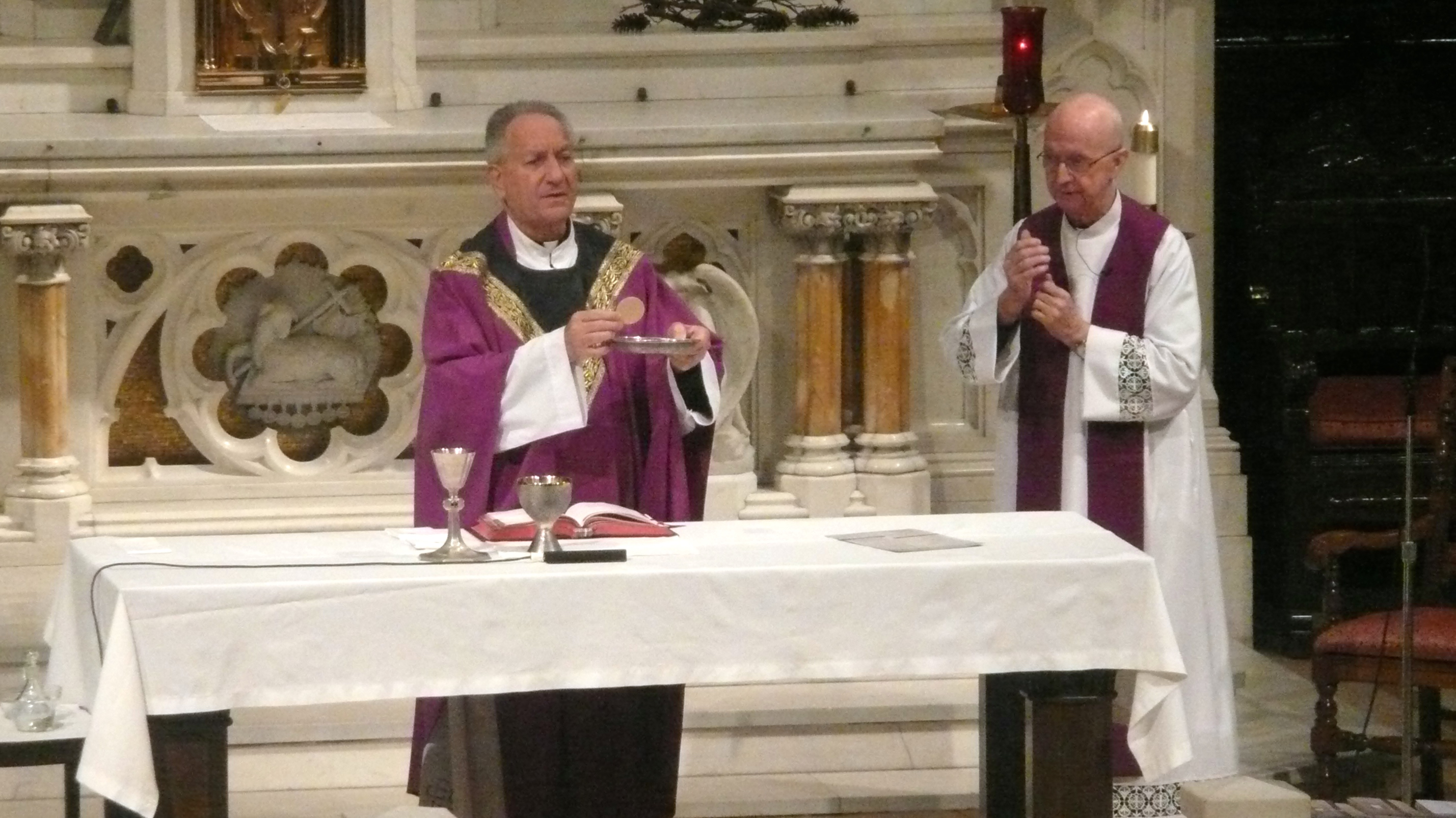 Msgr. Alfred LoPinto (left) and Pastor Fr. Edward Doran