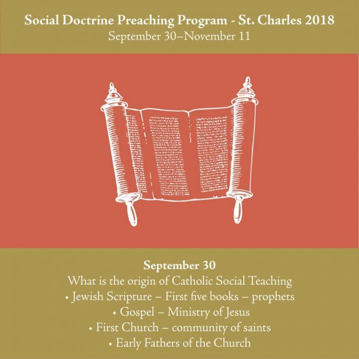 Catholic Social Doctrine Preaching Series