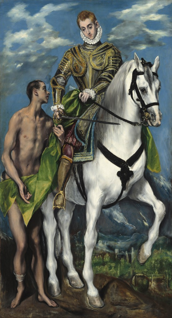 Saint Martin and the Beggar, El Greco, 1597-1599, National Gallery of Art (Washington, DC)